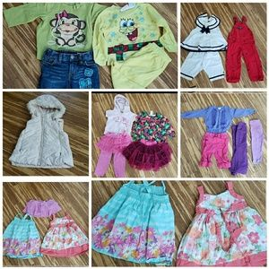 Girl clothes lot size 24m 29 pieces